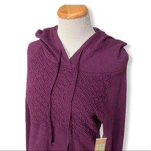 Title Nine by Pink Lotus Quilted Hoodie Sweatshirt
